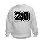 Varsity Uniform Number 20 Kids Sweatshirt