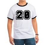 Varsity Uniform Number 20 Ringer T