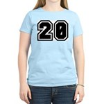 Varsity Uniform Number 20 Women's Pink T-Shirt