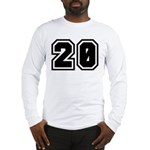 Varsity Uniform Number 20 Long Sleeve T-Shirt