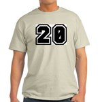 Varsity Uniform Number 20 Ash Grey T-Shirt