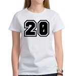 Varsity Uniform Number 20 Women's T-Shirt