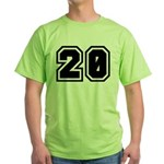 Varsity Uniform Number 20 Green T-Shirt