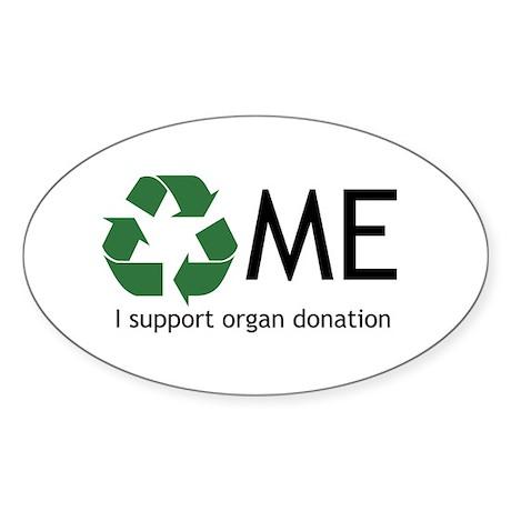 Organ donation Sticker (Oval 10 pk)