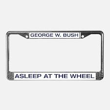 Bush Asleep at the Wheel License Plate Frame