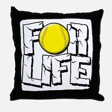 Softball For Life Throw Pillow