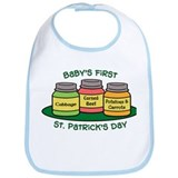 Baby st patricks day Cotton Bibs
