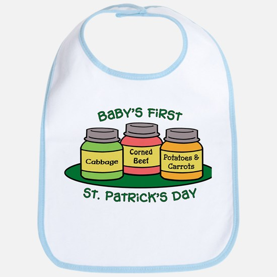 First St. Patrick's Day Bib