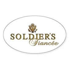 Soldier's Fiancee Oval Decal