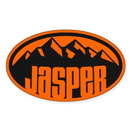 Jasper National Park Sticker (Oval)