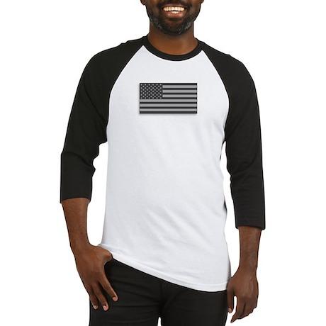 USA American Flag Gray Camo Baseball Jersey