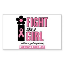 Fight Like A Girl 1.3 Breast Cancer Decal