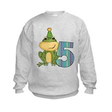 Party Frog 5th Birthday Sweatshirt