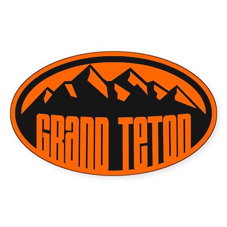 Canapé En Soldes Chez Fly : Grand Teton Sticker (Oval) by highaltitudes2