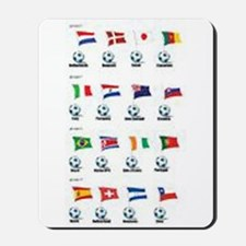 Soccer Balls and Flags Mousepad