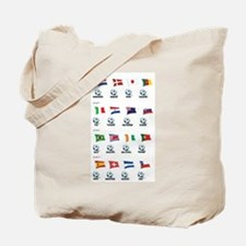 Soccer Balls and Flags Tote Bag