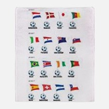 Soccer Balls and Flags Throw Blanket