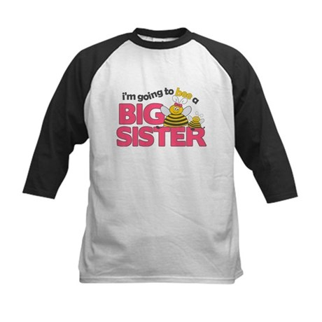 I'm Going to Bee a Big Sister Kids Baseball Jersey