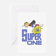Supergirl 1st Birthday Greeting Card