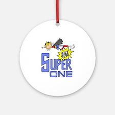 Supergirl 1st Birthday Ornament (Round)