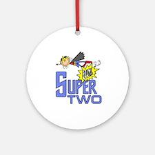 Supergirl 2nd Birthday Ornament (Round)