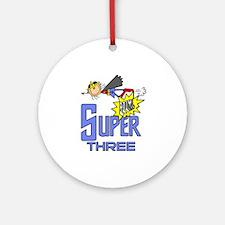 Supergirl 3rd Birthday Ornament (Round)