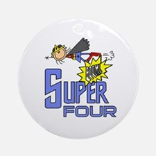 Supergirl 4th Birthday Ornament (Round)