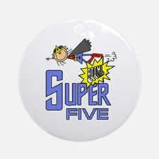 Supergirl 5th Birthday Ornament (Round)