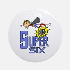 Supergirl 6th Birthday Ornament (Round)