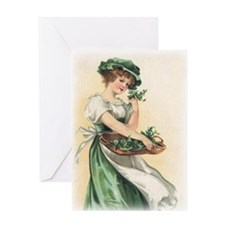 Vintage St. Patricks Day Imag Greeting Card