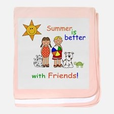Summer and Friends baby blanket