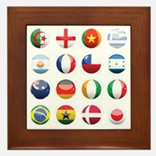 World Cup Soccer Balls Framed Tile