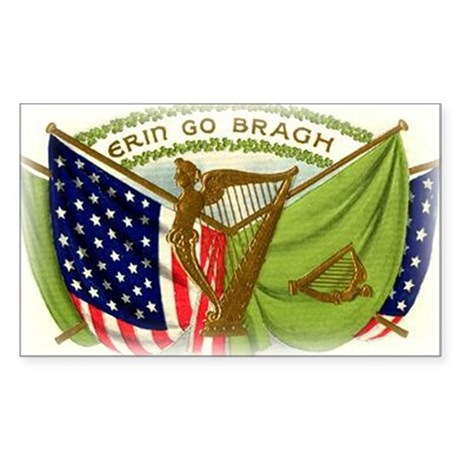 Erin Go Bragh Flags Sticker (Rectangle)