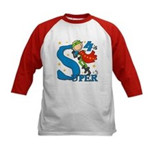 Super Boy 4th Birthday Tee