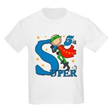 Super Boy 5th Birthday T-Shirt