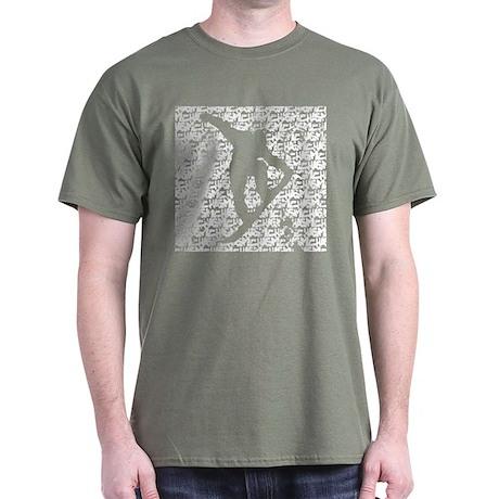 Chasm pattern Snowboarder Dark T-Shirt