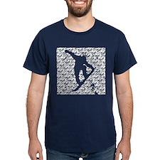 Chasm pattern Snowboarder T-Shirt
