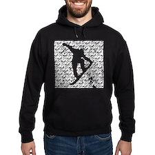 Chasm pattern Snowboarder Hoodie