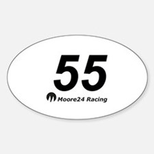 Moore 24 Sticker (Oval 10 pk)