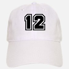 Varsity Uniform Number 12 Baseball Baseball Cap
