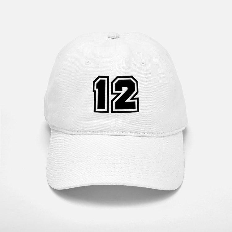 Varsity Uniform Number 12 Baseball Baseball Cap
