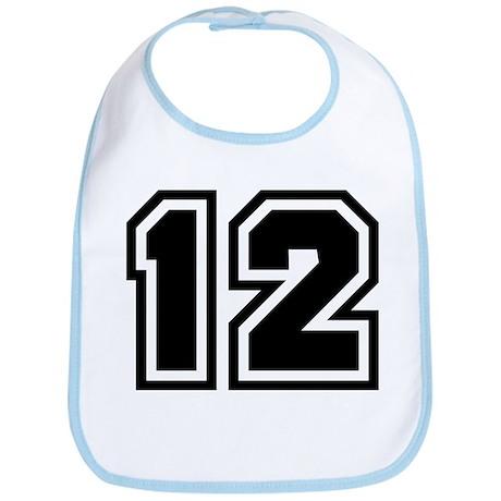 Varsity Uniform Number 12 Bib
