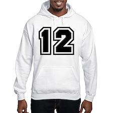 Varsity Uniform Number 12 Hoodie