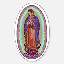 2 Lady of Guadalupe Sticker (Oval)