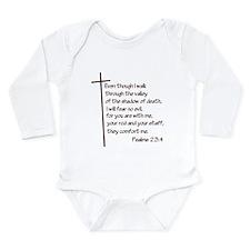 Psalms 23:4 Long Sleeve Infant Bodysuit