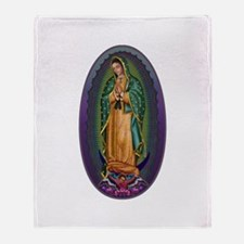 4 Lady of Guadalupe Throw Blanket