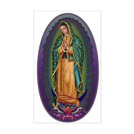 4 Lady of Guadalupe Sticker (Rectangle)