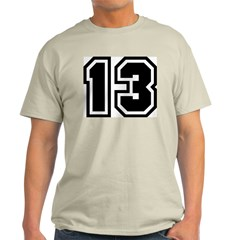 Varsity Uniform Number 13 Ash Grey T-Shirt