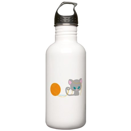 """""""Kitty + Yarns"""" Stainless Water Bottle 1.0L"""