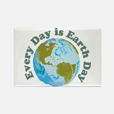 Earth Day Every Day Rectangle Magnet (100 pack)